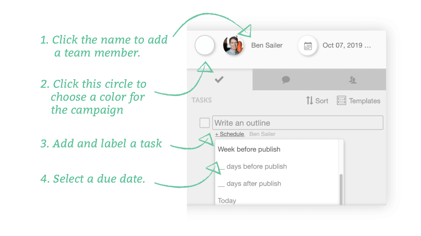 Creating a task in CoSchedule
