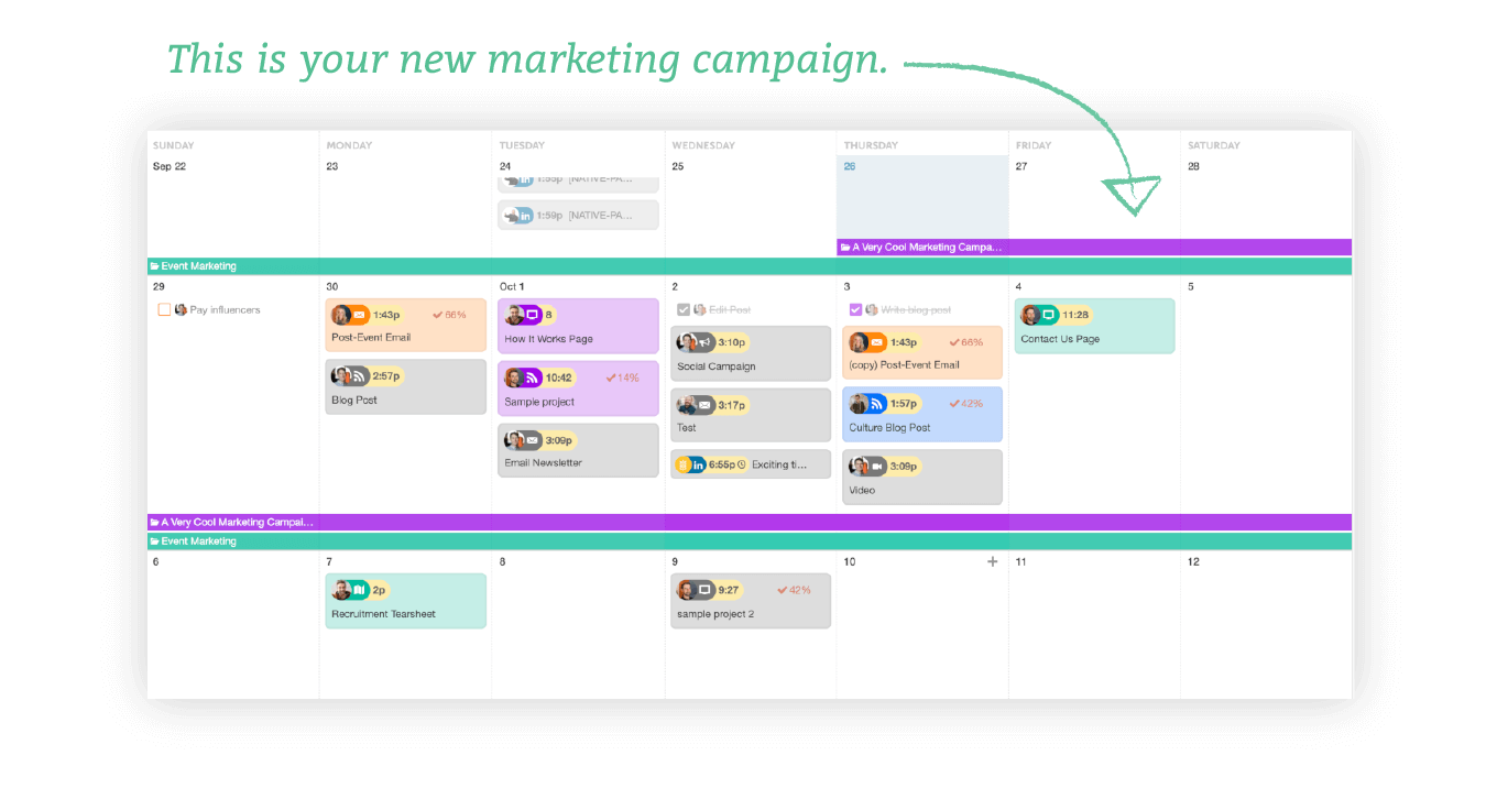 Marketing Campaigns in CoSchedule