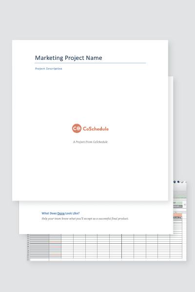 Marketing Project Management Process Bundle