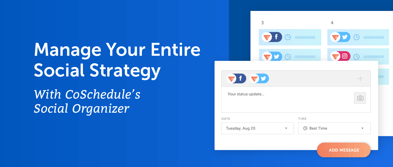 Manage your entire social strategy with CoSchedule
