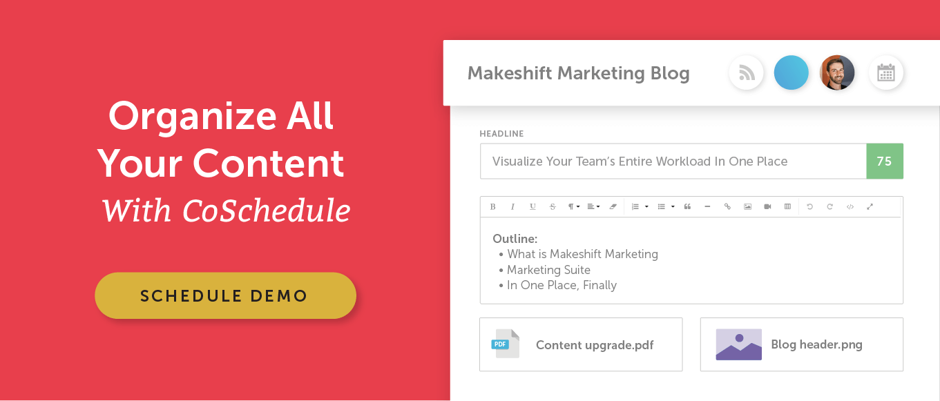 Organize all your content with CoSchedule