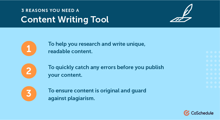 3 Reasons You Need A Content Writing Tool