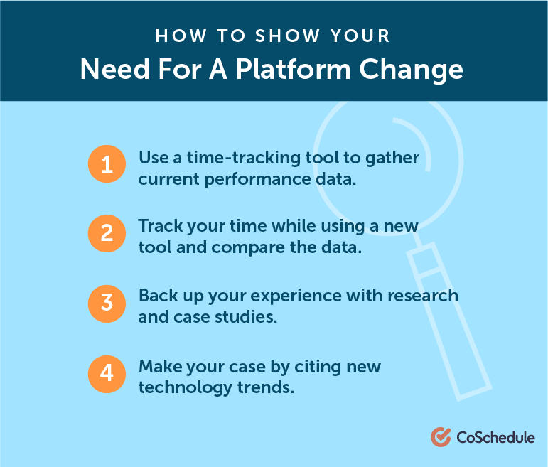 How to Show Your Need For A Platform Change