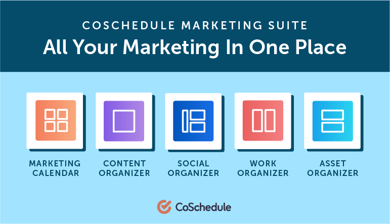 Get All Your Marketing In One Place with the CoSchedule Content Marketing Platform