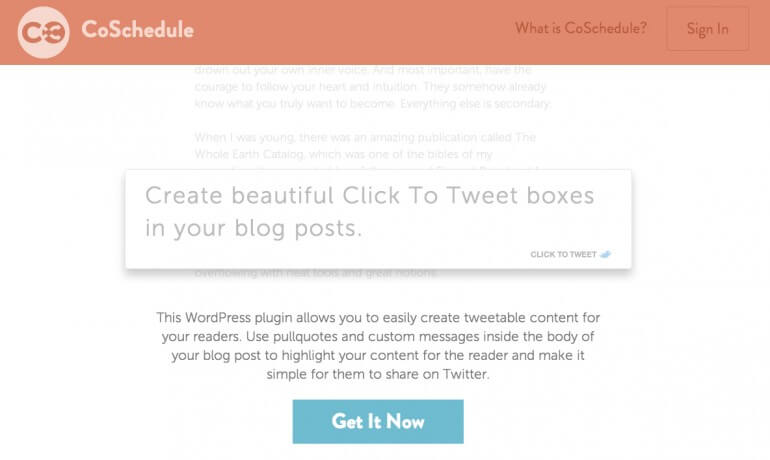 free wordpress click to tweet plugin