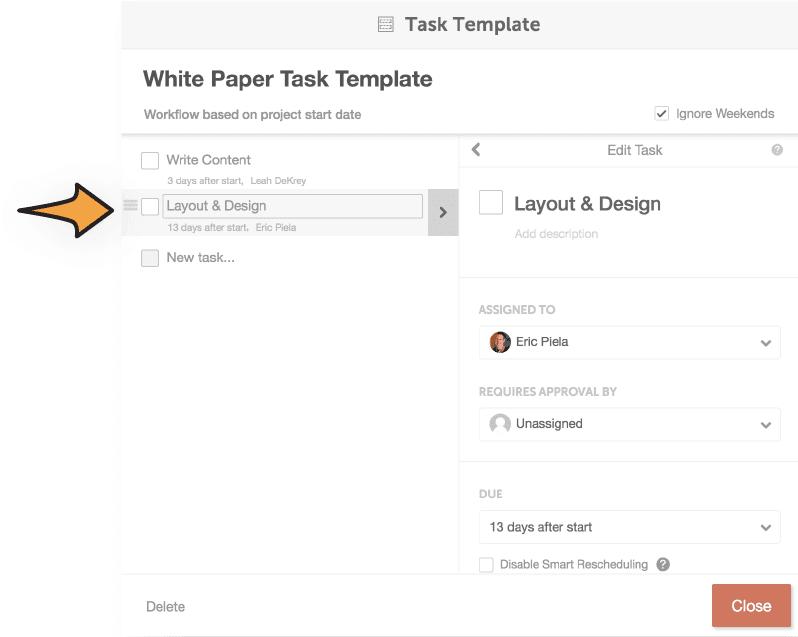 Edit task templates