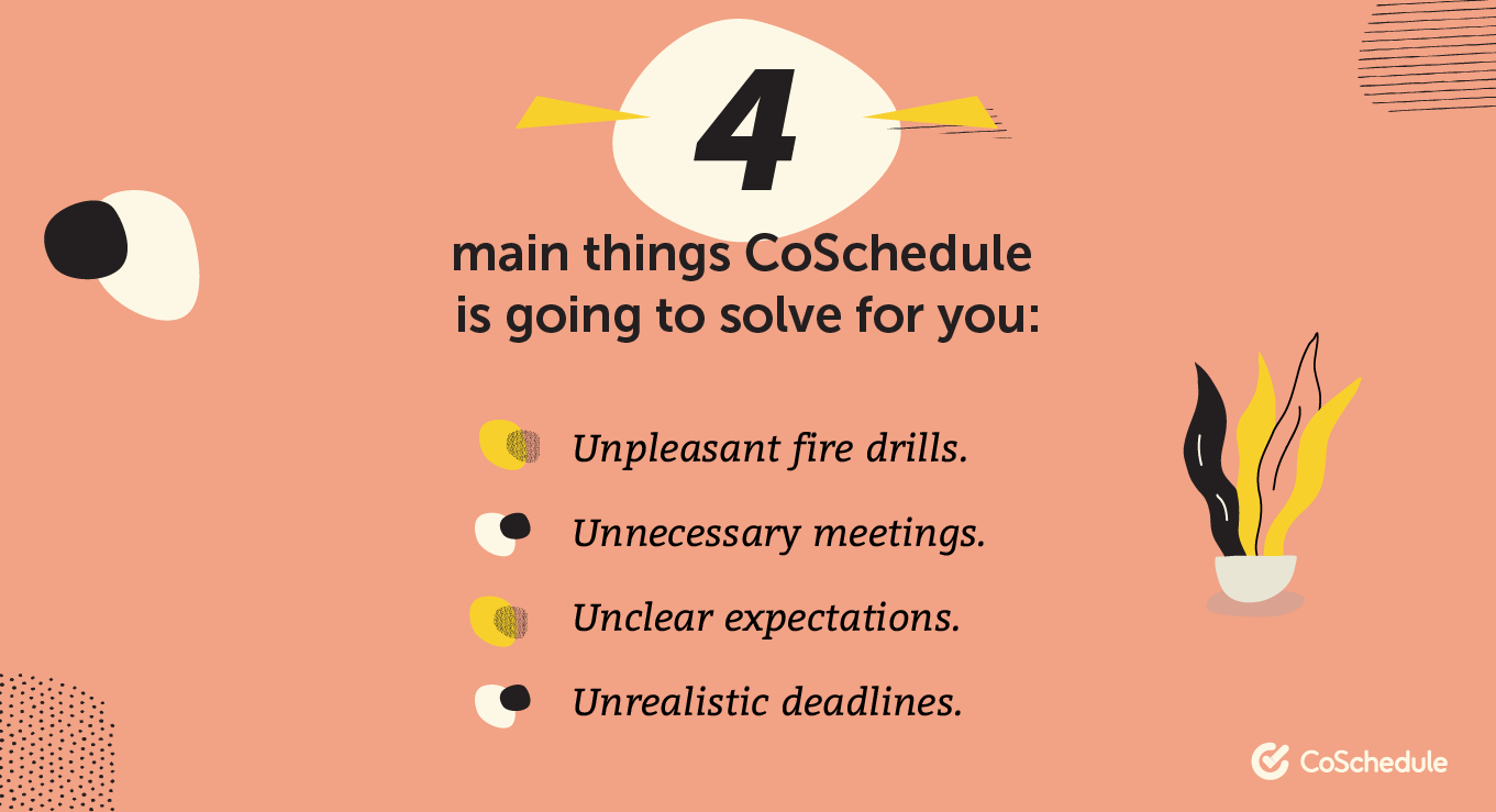 4 main things coschedule is going to save for you graphic