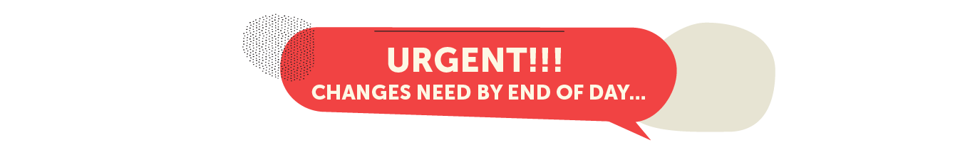 Urgent changes needed graphic