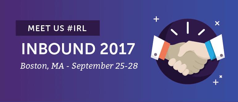Meet CoSchedule #IRL At INBOUND 2017 in Boston, September 25-28th!
