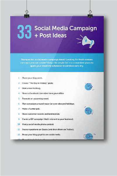 33 Social Media Campaign and Post Ideas