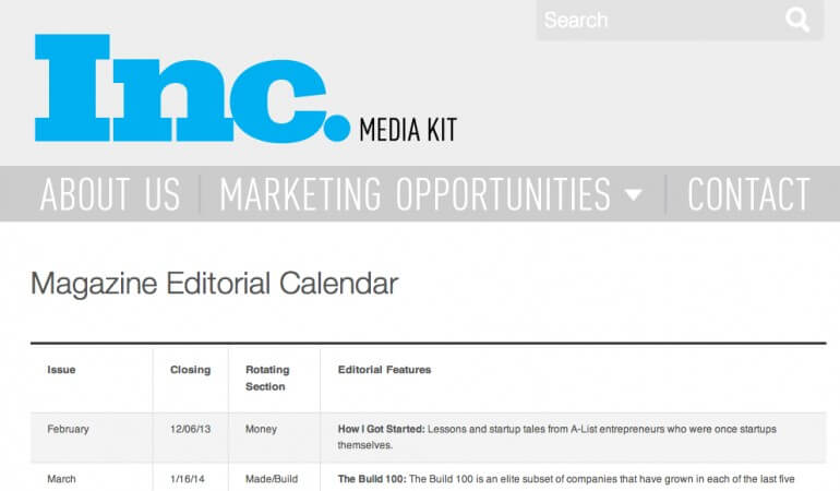 Yearly editorial calendar for your blog