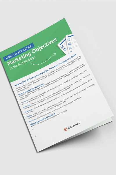 Marketing Objectives Reporting Guide