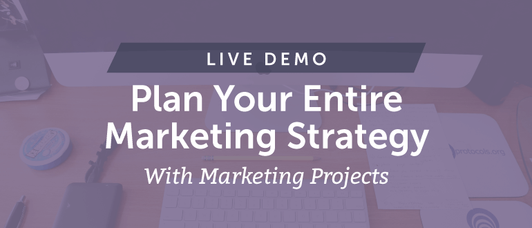 Plan Your Entire Marketing Strategy With Marketing Projects [Live Demo]