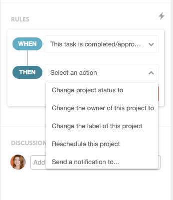 CoSchedule When-Then Task Rules