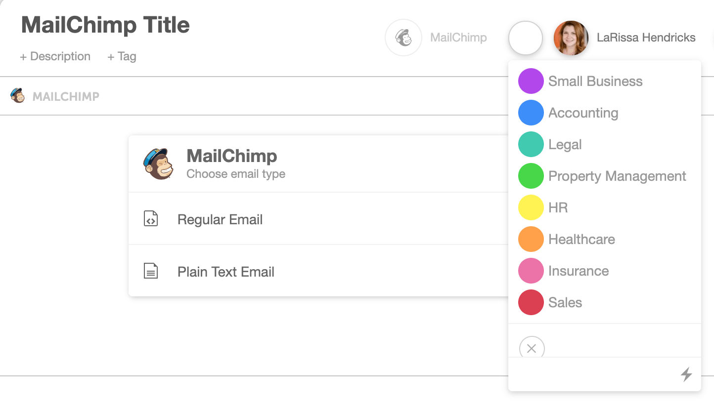 CoSchedule Project Color Labels