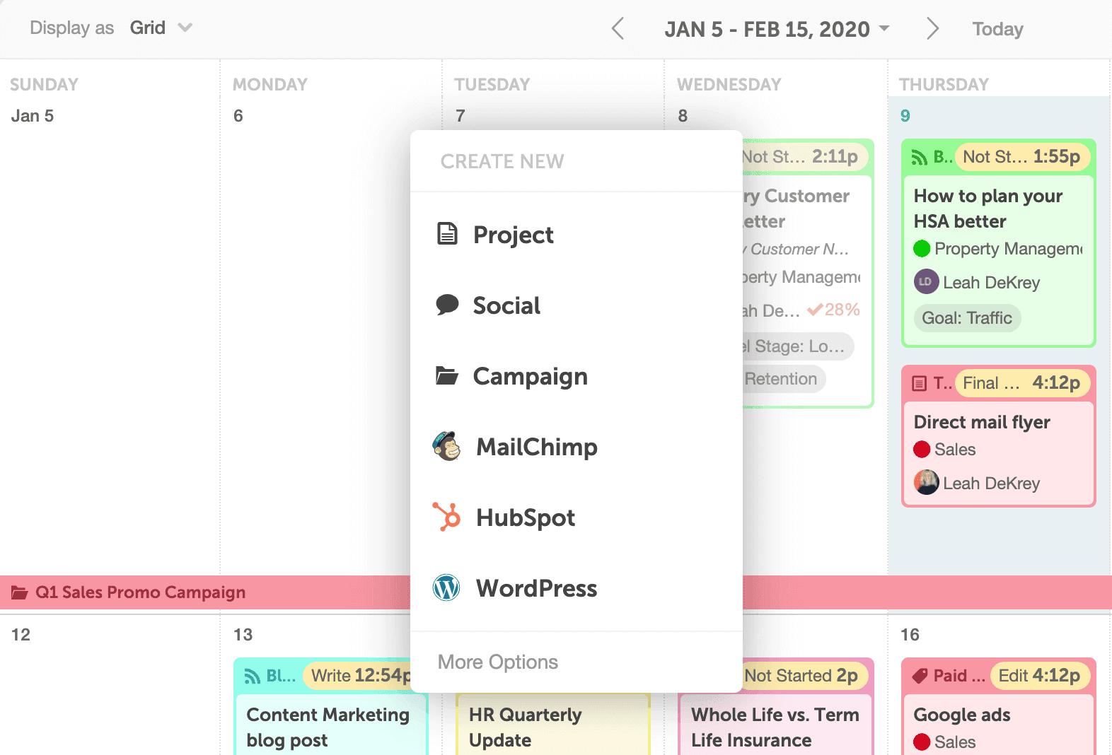 Create A New Campaign In CoSchedule
