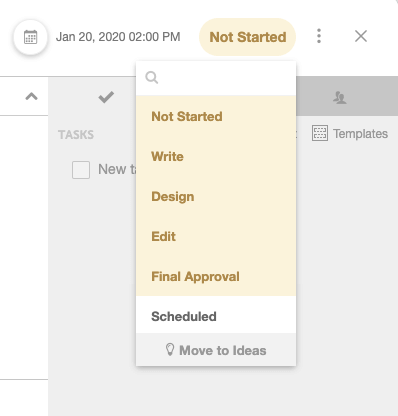 CoSchedule Custom Project Statuses