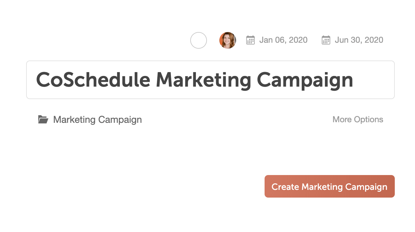 CoSchedule Marketing Campaign
