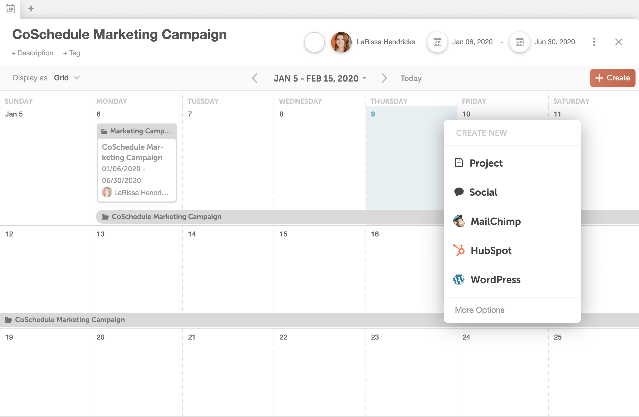 Creating A New Project In CoSchedule