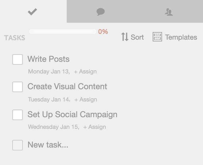 CoSchedule Task Template