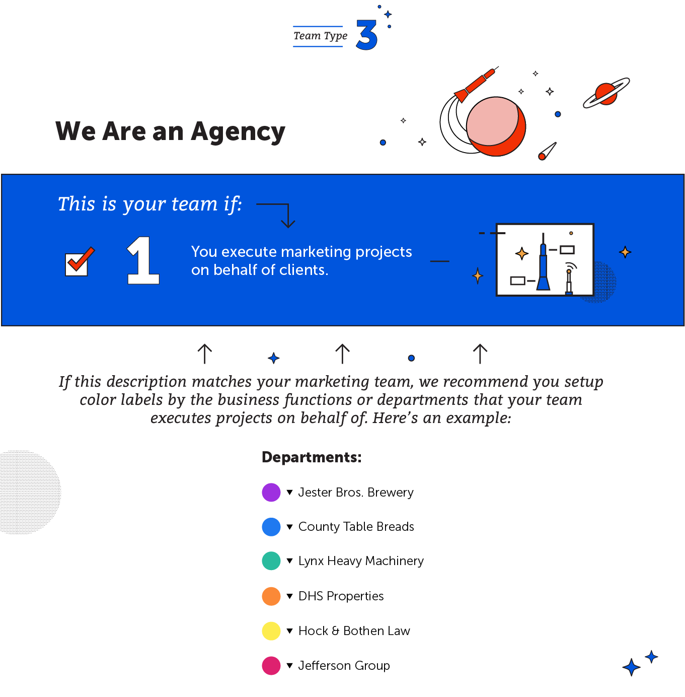 We are an agency
