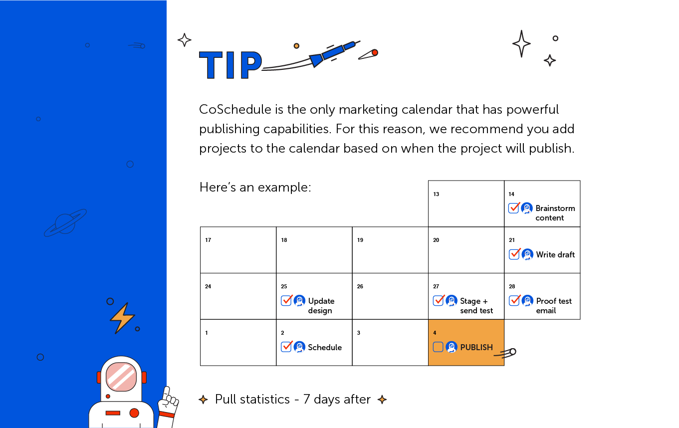 TIP: CoSchedule is the only marketing calendar that has powerful publishing capabilities.
