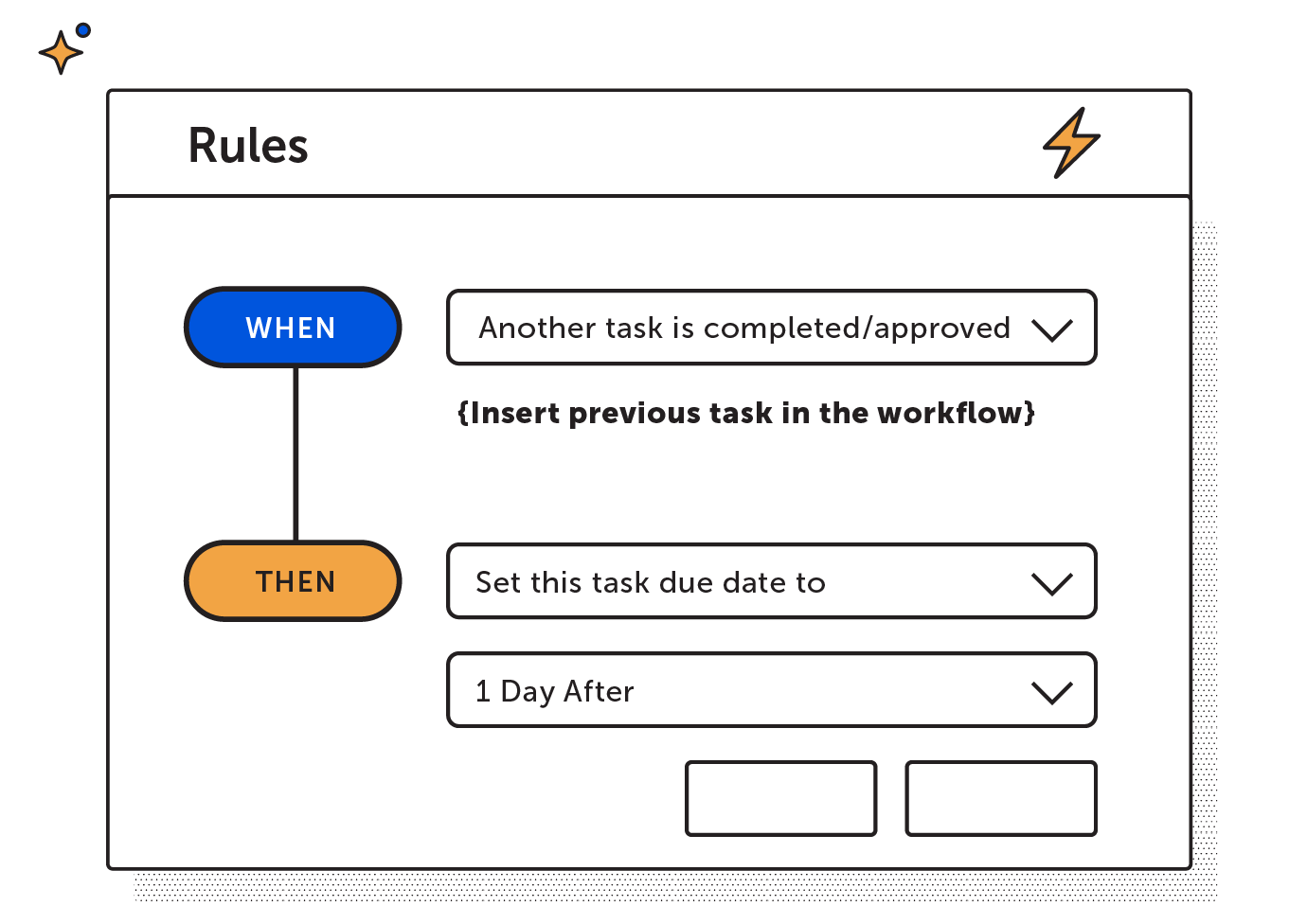 Set task due date rule