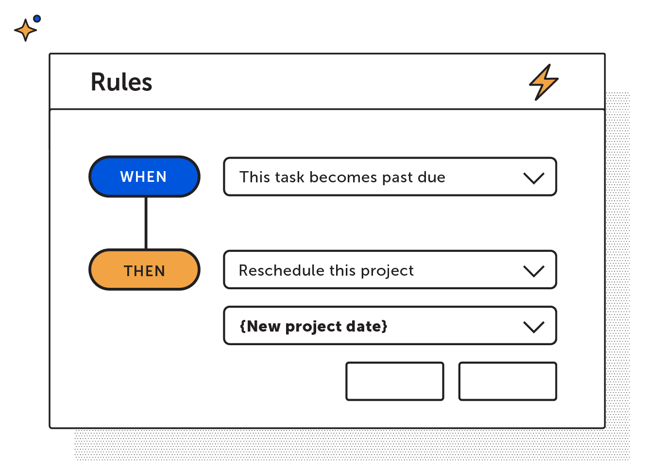 Reschedule project task rule