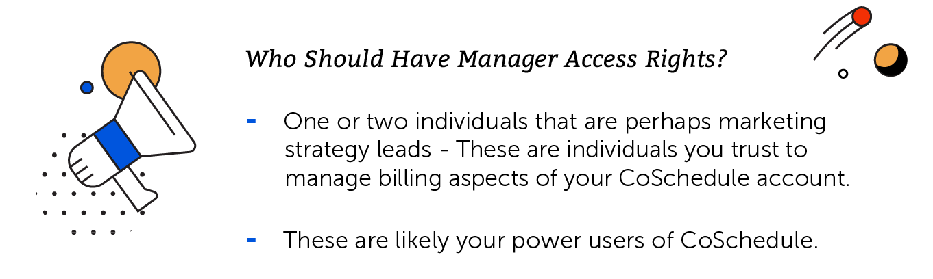Manager access rights