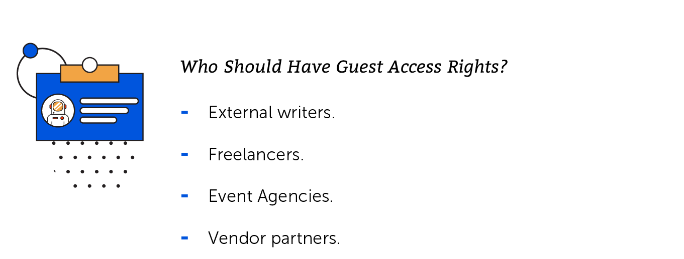 Guest access rights