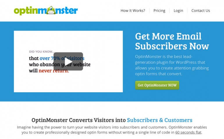 OptinMonster For WordPress Lead Collection