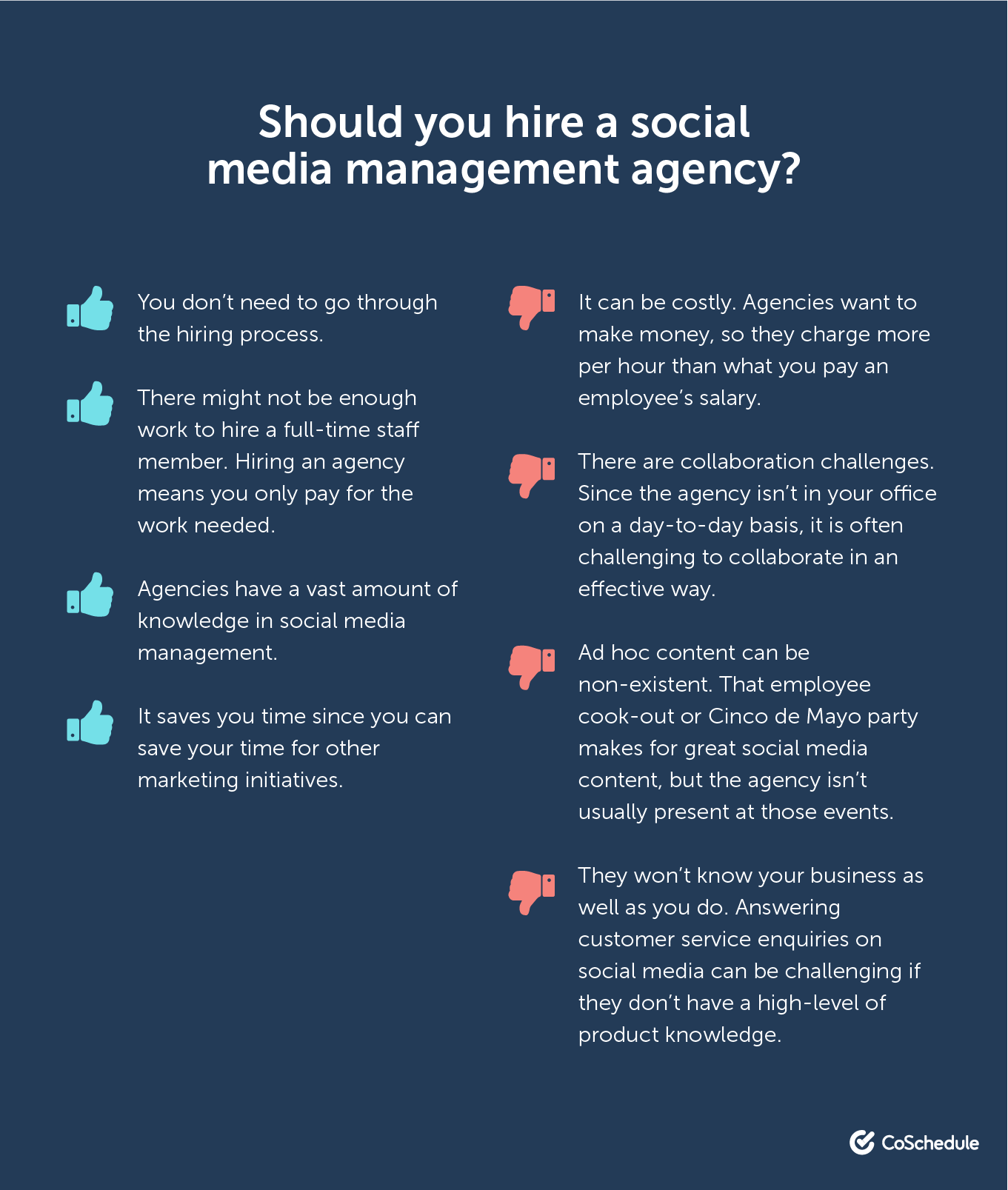 Pros and cons of hiring a social media manager