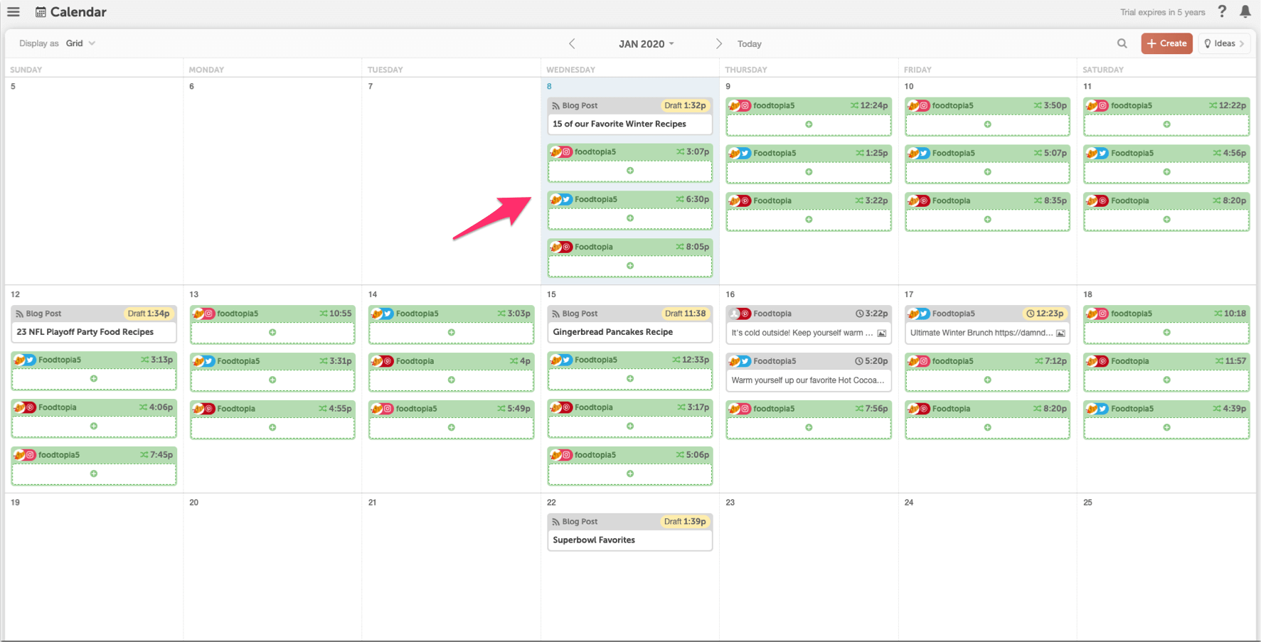 Example of Requeue messages on your Calendar.