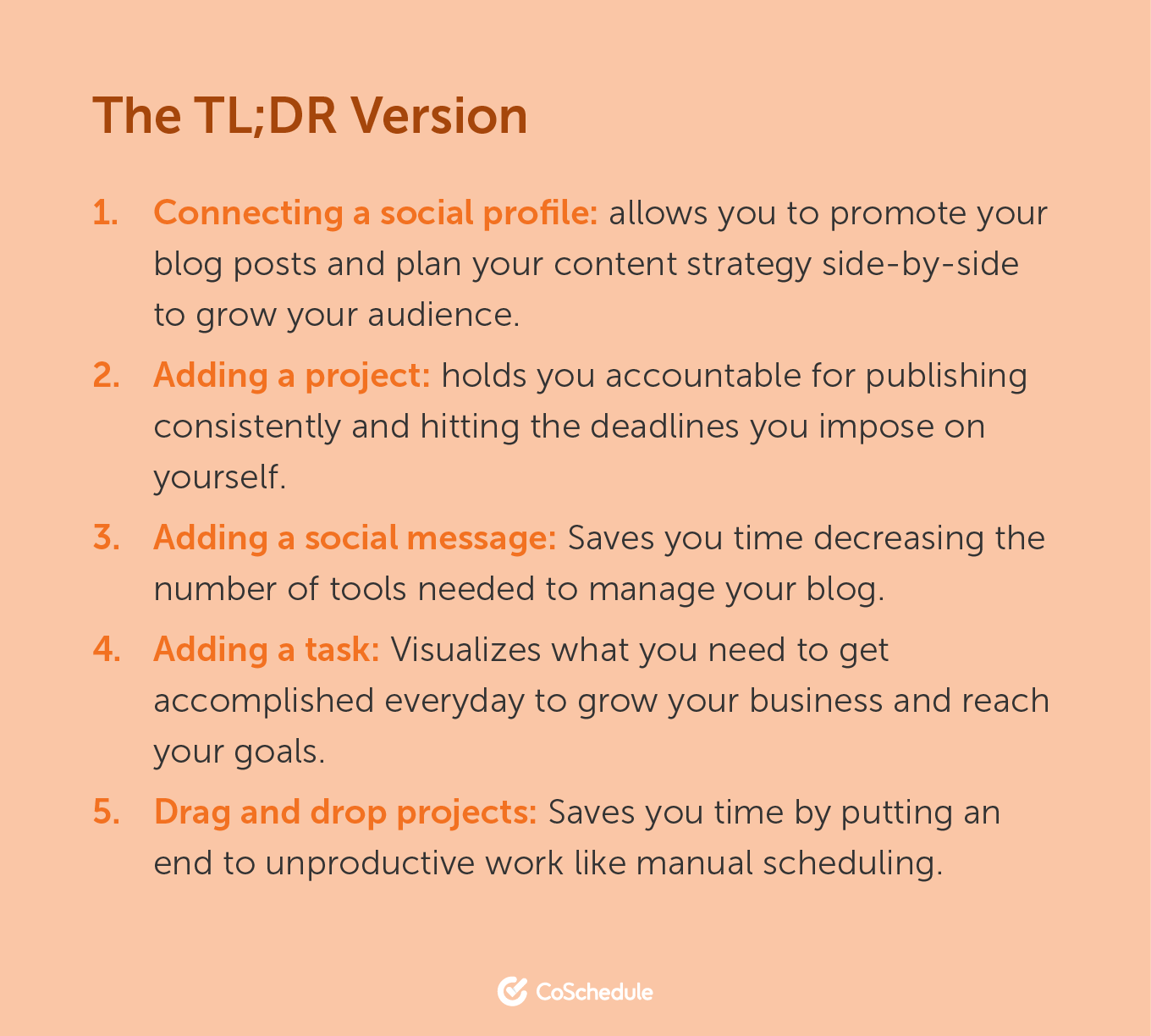 TL;DR Version 1: Connecting a social profile. 2: Adding a project. 3: Adding a social message. 4: Adding a task. 5. Drag and drop projects.