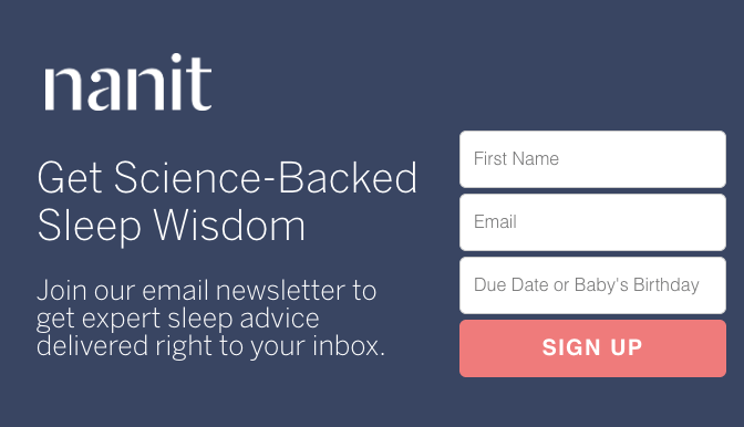 Email subscription prompt form nanit