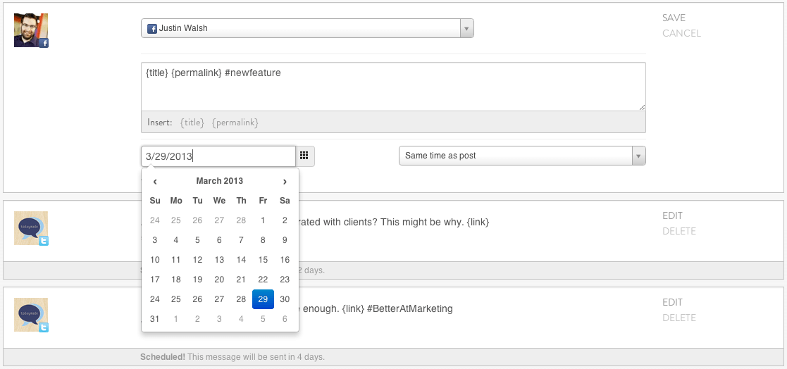 Schedule Messages On A Specific Date