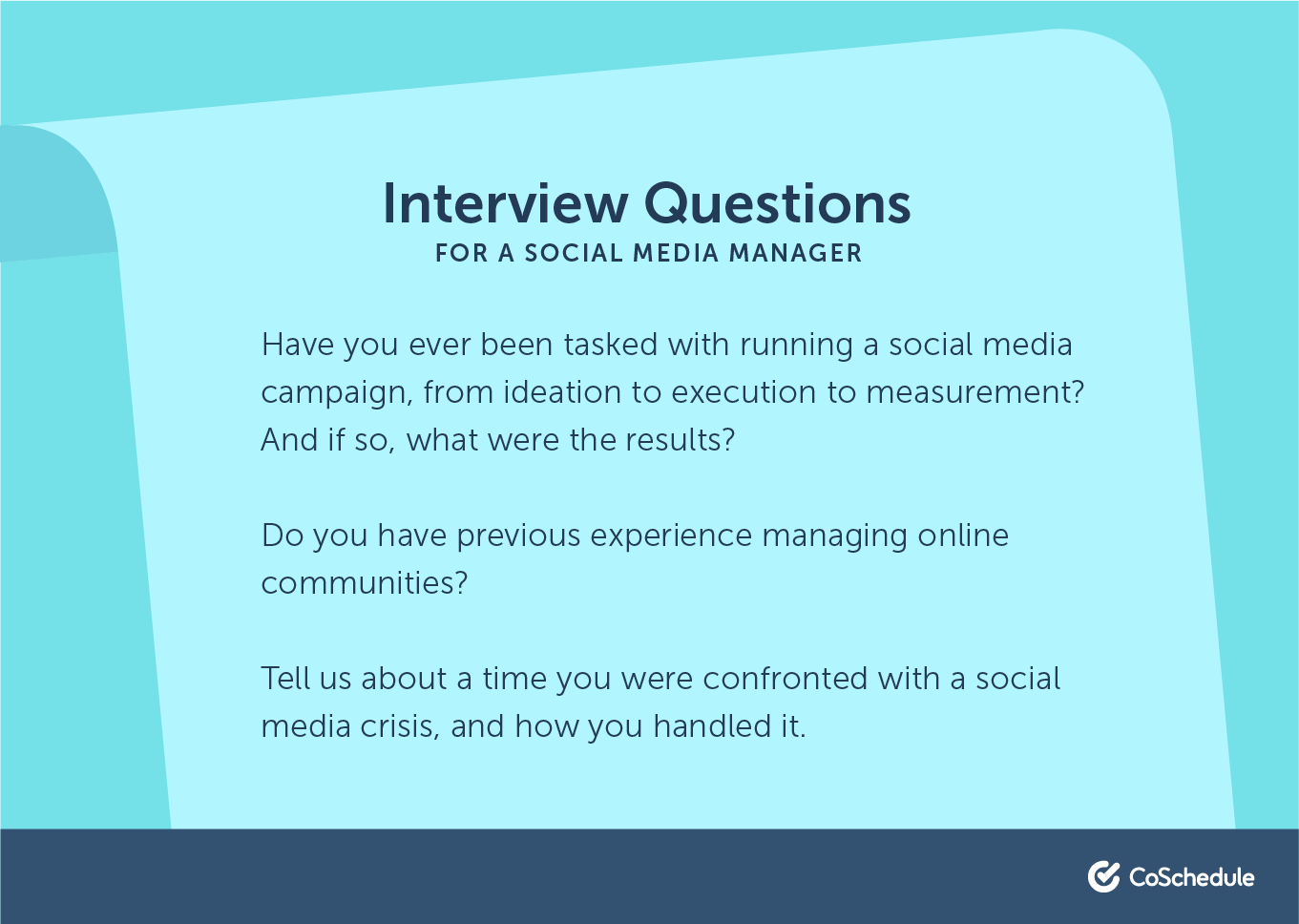 Interview questions for a social media manager position