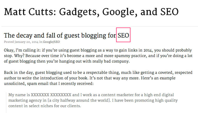 guest blogging opportunities for SEO