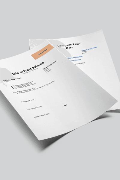 Press Release Template Bundle