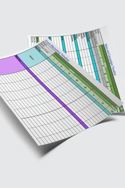 Marketing Timeline Template Bundle