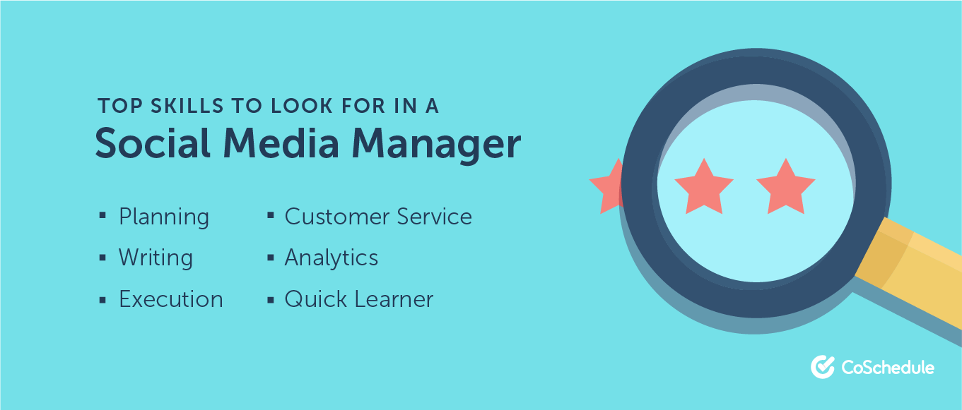 Top skills to look for in a social media manager