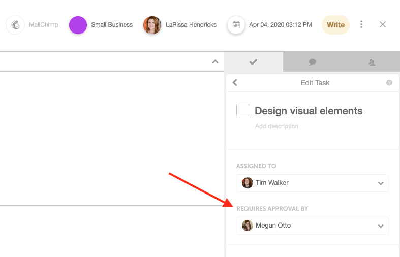 Assign automatic task approvals in CoSchedule