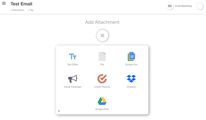 Add project attachment