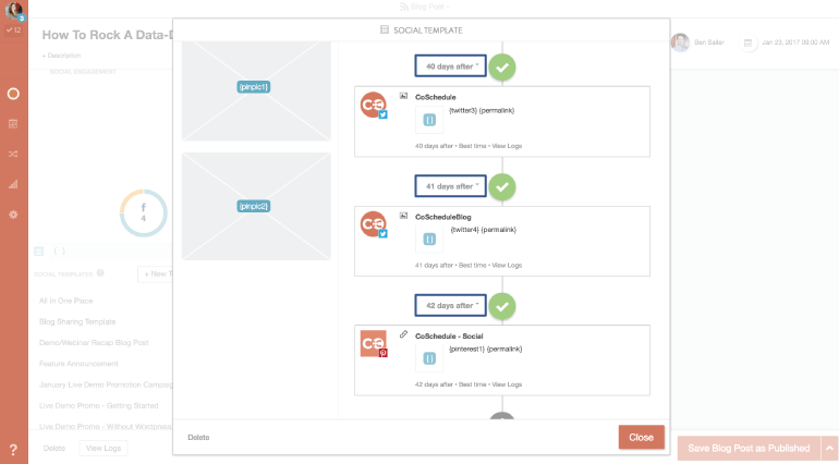 Add messages to social templates