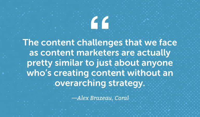 The content challenges that we face as content marketers are actually pretty similar to just about anyone creating content ...