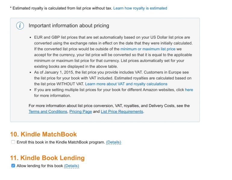 Allow Kindle Book Lending