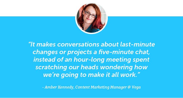 It makes conversations about last-minute changes or projects a five-minute chat ...