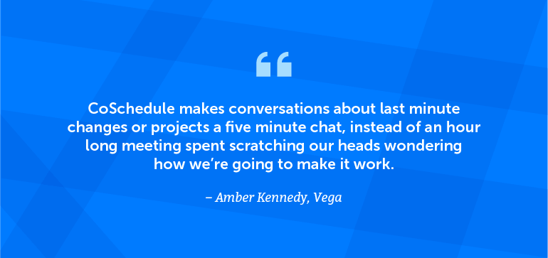 CoSchedule makes conversations about last-minute changes or projects a five-minute chat.