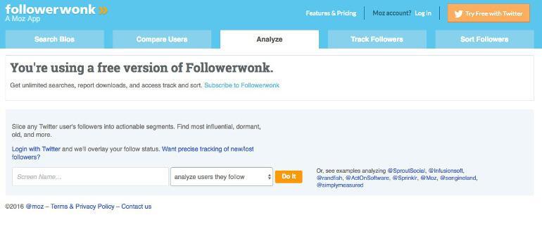Followerwonk Screenshot