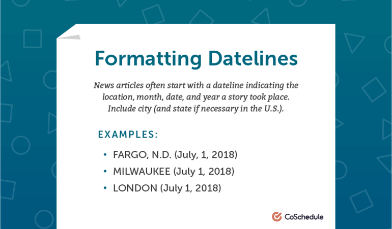 How to Format Datelines in AP Style